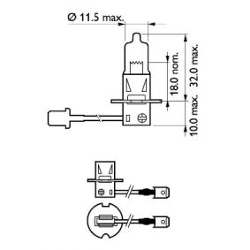Крушка с нагреваема жичка, фар за дълги светлини 12336PRC1 онлайн магазин