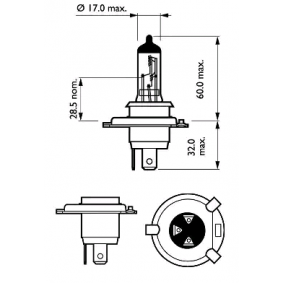 12342ELC2 Glühlampe, Fernscheinwerfer von PHILIPS Qualitäts Ersatzteile