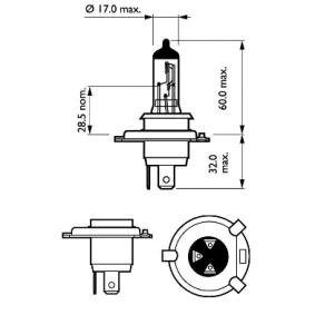 3713341M1 für , Glühlampe, Fernscheinwerfer PHILIPS (12342ELC2) Online-Shop