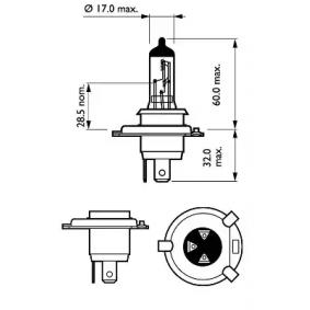 PHILIPS 12342LLECOC1 Glühlampe, Fernscheinwerfer OEM - N0177636 AUDI, SEAT, VW günstig