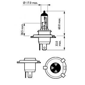 71741900 für FIAT, Glühlampe, Fernscheinwerfer PHILIPS (12342PRC2) Online-Shop