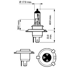 12342VPC2 Glühlampe, Fernscheinwerfer von PHILIPS Qualitäts Ersatzteile