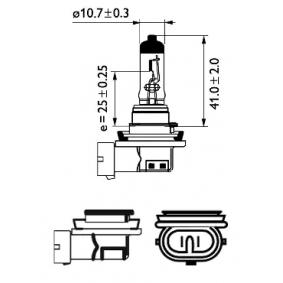 12360C1 Glühlampe, Fernscheinwerfer von PHILIPS Qualitäts Ersatzteile