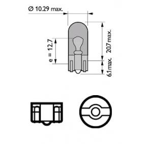 12396NACP Glühlampe, Blinkleuchte von PHILIPS Qualitäts Ersatzteile