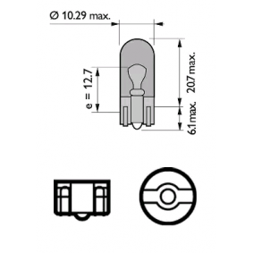12396NACP Bulb, indicator from PHILIPS quality parts