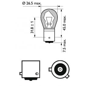 12496SVB2 Glühlampe, Blinkleuchte von PHILIPS Qualitäts Ersatzteile