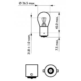 PHILIPS FIAT PUNTO Stop light bulb (12498CP)