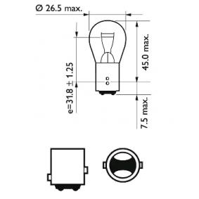 MEGANE III Coupe (DZ0/1_) PHILIPS Heckleuchten Glühlampe 12499CP