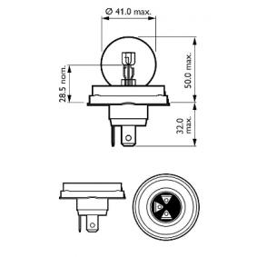 12620C1 Glühlampe, Fernscheinwerfer von PHILIPS Qualitäts Ersatzteile