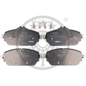 Bremsbelagsatz, Scheibenbremse OPTIMAL Art.No - 12650 OEM: 68211488AA für FIAT kaufen