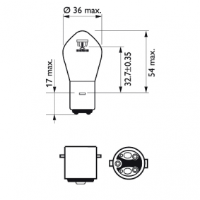 12728BW Крушка с нагреваема жичка, фар за дълги светлини от PHILIPS качествени части