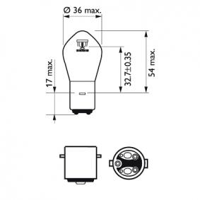 12728BW Glühlampe, Fernscheinwerfer von PHILIPS Qualitäts Ersatzteile