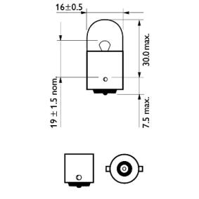 Transporter IV Pritsche / Fahrgestell (70E, 70L, 70M, 7DE, 7DL) PHILIPS Kennzeichenleuchte 12814CP