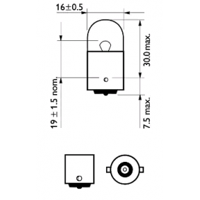 12814CP Bulb, indicator from PHILIPS quality parts