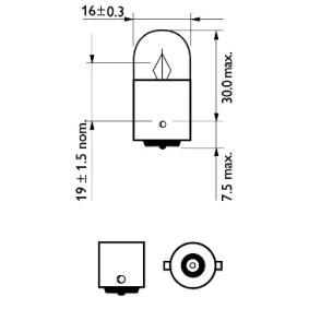 MONDEO III Kombi (BWY) PHILIPS Heckleuchten Glühlampe 12821CP