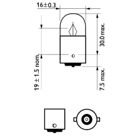 12821CP Bulb, indicator from PHILIPS quality parts