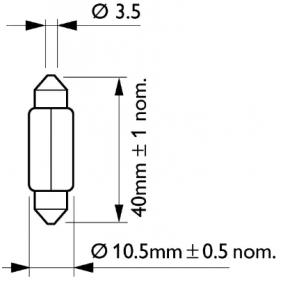 Golf V Хечбек (1K1) PHILIPS Осветление на въртешното пространство 12866B2