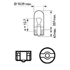 MEGANE III Coupe (DZ0/1_) PHILIPS Kennzeichenleuchten Glühlampe 12961CP
