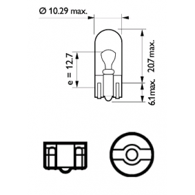 12961CP Bulb, indicator from PHILIPS quality parts
