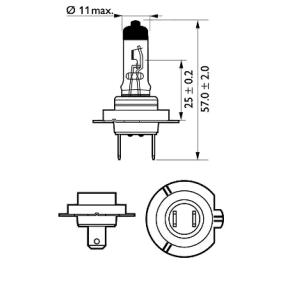 PHILIPS 12972PRB1 Glühlampe, Fernscheinwerfer OEM - N400809000007 MERCEDES-BENZ, SMART günstig