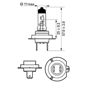 532472 за , Крушка с нагреваема жичка, фар за дълги светлини PHILIPS (12972PRC1) Онлайн магазин