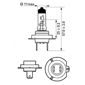 5 Touring (E39) PHILIPS Fernscheinwerfer Glühlampe 12972PRC1
