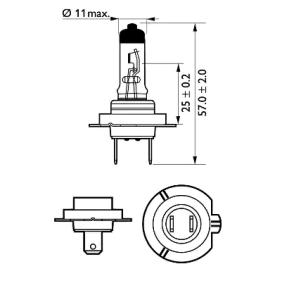 532472 за , Крушка с нагреваема жичка, фар за дълги светлини PHILIPS (12972PRC2) Онлайн магазин