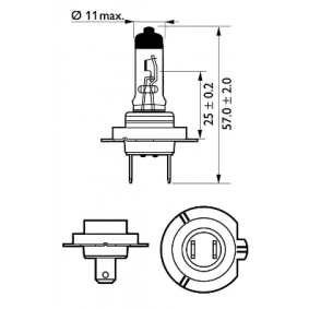 532472 за , Крушка с нагреваема жичка, фар за дълги светлини PHILIPS (12972VPC2) Онлайн магазин