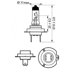 PHILIPS 12972XV+B1 Glühlampe, Fernscheinwerfer OEM - 10044613 LIEBHERR günstig
