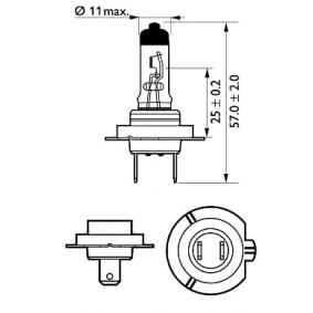 PHILIPS 12972XV+B1 Glühlampe, Fernscheinwerfer OEM - N400809000007 MERCEDES-BENZ, SMART günstig