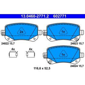 ATE Bremsbelagsatz, Scheibenbremse 68029887AA für MERCEDES-BENZ, FIAT, ALFA ROMEO, JEEP, CHRYSLER bestellen