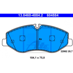 ATE Bremsbelagsatz, Scheibenbremse 4474200220 für MERCEDES-BENZ bestellen