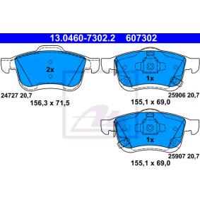Bremsbelagsatz, Scheibenbremse ATE Art.No - 13.0460-7302.2 OEM: 77366915 für FIAT, ALFA ROMEO, LANCIA kaufen