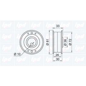 IPD Spannrolle, Zahnriemen 068109243C für VW, AUDI, SKODA, SEAT bestellen