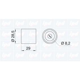 Vratna / vodici kladka, ozubeny remen 15-0078 IPD