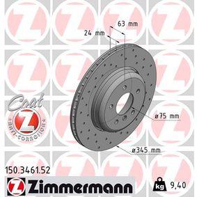 ZIMMERMANN Bremsscheibe 150.3461.52