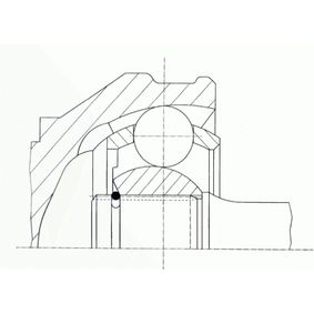 Buy Joint Kit, drive shaft SPIDAN Art.No - 24558