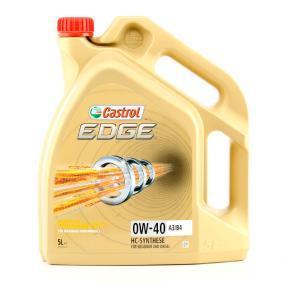 VOLVO S80 Olja till bilen 15337F tillverkarens CASTROL i högkvalitativa