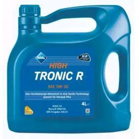 ARAL Motorolja HighTronic, R, 5W-30, 4l 1555F2 original kvalite