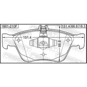 FEBEST Bremsbelagsatz, Scheibenbremse A004420022067 für MERCEDES-BENZ bestellen