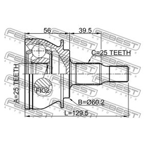 FEBEST Joint, drive shaft A1693600975 for MERCEDES-BENZ acquire