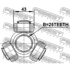 FEBEST Tripod Hub, Drive shaft A1693705572 for MERCEDES-BENZ acquire
