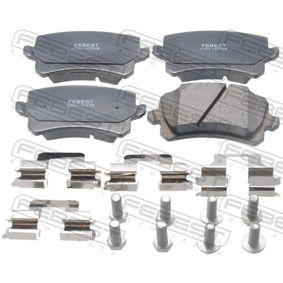 Bremsbelagsatz, Scheibenbremse FEBEST Art.No - 1701-GVIR OEM: 4F0698451C für VW, AUDI, SKODA, SEAT kaufen