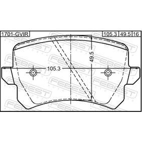 FEBEST Bremsbelagsatz, Scheibenbremse 4F0698451C für VW, AUDI, SKODA, SEAT bestellen
