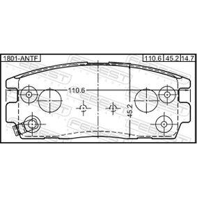 FEBEST Bremsbelagsatz, Scheibenbremse 58302H1A00 für TOYOTA, HYUNDAI, KIA bestellen
