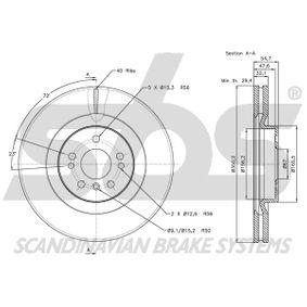 1644210512 за MERCEDES-BENZ, Спирачен диск sbs (1815203393) Онлайн магазин