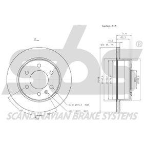 CRAFTER 30-50 Kasten (2E_) sbs Bremsscheiben 18153147122