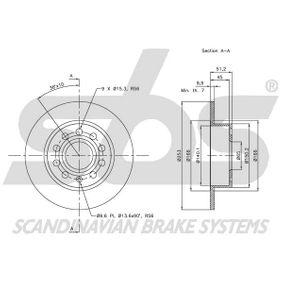 5Q0615601F für VW, AUDI, SKODA, SEAT, VOLVO, Bremsscheibe sbs (1815344789) Online-Shop