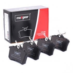 Bromsbeläggssats, skivbroms MAXGEAR Art.No - 19-0429 OEM: 8E0698451B för VW, AUDI, FORD, SKODA, SEAT köp
