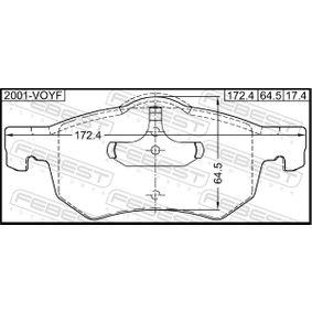 FEBEST Bremsbelagsatz, Scheibenbremse 5015365AA für ALFA ROMEO, JEEP, CHRYSLER, DODGE bestellen